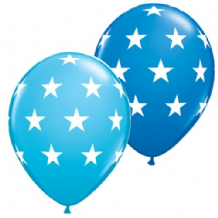 Big Stars Balloons (Mixed Blue) - 11 Inch Balloons 25pcs